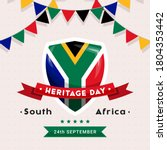 south africa heritage day   24...   Shutterstock .eps vector #1804353442