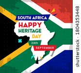 happy south africa heritage day ... | Shutterstock .eps vector #1804353448