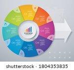 8 steps pie chart  circle chart ... | Shutterstock .eps vector #1804353835