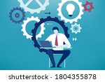 developing project. businessman ... | Shutterstock .eps vector #1804355878