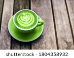 Fresh Green Matcha With Frothy...