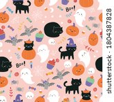 childish halloween seamless... | Shutterstock .eps vector #1804387828