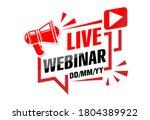 live webinar announcement.... | Shutterstock .eps vector #1804389922