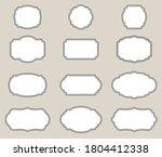 vintage frames stickers... | Shutterstock .eps vector #1804412338