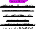 grass silhouette. turf coating... | Shutterstock .eps vector #1804423642