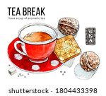 pleasant relaxation with cup of ... | Shutterstock . vector #1804433398