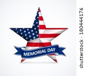 Memorial Day With Star In...
