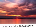 Dramatic Sunset Over Lake Huron ...