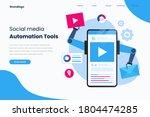 social media automation... | Shutterstock .eps vector #1804474285