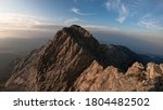 This Is A View Of Peak Mitikas...