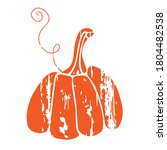 wood textured pumpkin... | Shutterstock .eps vector #1804482538