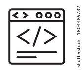 website development coding  ...   Shutterstock .eps vector #1804486732