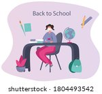 back to school during... | Shutterstock .eps vector #1804493542