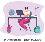 back to school during... | Shutterstock .eps vector #1804502308