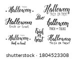 halloween holiday lettering set.... | Shutterstock .eps vector #1804523308
