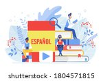 online language courses flat...   Shutterstock . vector #1804571815