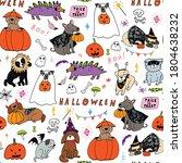 halloween seamless vector... | Shutterstock .eps vector #1804638232