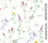 watercolor wildflower seamless...   Shutterstock . vector #1804639228