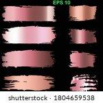 gold rose brush stroke. pink ... | Shutterstock .eps vector #1804659538