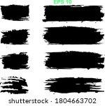 black line  grunge brush... | Shutterstock .eps vector #1804663702