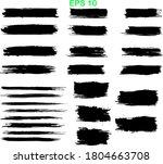 black line  grunge brush... | Shutterstock .eps vector #1804663708