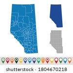set maps of alberta province   Shutterstock .eps vector #1804670218