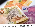 real  brazilian currency. a... | Shutterstock . vector #1804717018