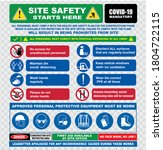 site safety starts here or site ... | Shutterstock .eps vector #1804722115