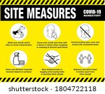 site measures mandatory or site ... | Shutterstock .eps vector #1804722118