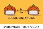 corona halloween pumpkin social ... | Shutterstock .eps vector #1804723615