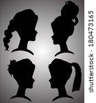 vector silhouettes of women... | Shutterstock .eps vector #180473165