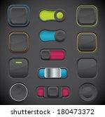 dark button set including...