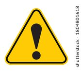 general caution icon vector... | Shutterstock .eps vector #1804801618