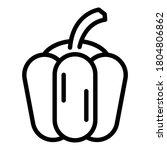bell pepper icon. outline bell... | Shutterstock .eps vector #1804806862