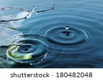 Rings On Water Surface  Text...