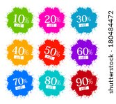colorful discount labels ... | Shutterstock . vector #180484472