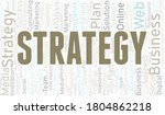strategy word cloud create with ... | Shutterstock .eps vector #1804862218