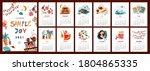 wall vertical calendar for 2021 ...   Shutterstock .eps vector #1804865335