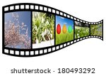 film strip with spring images ... | Shutterstock . vector #180493292