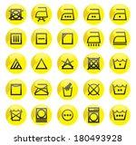 washing machine symbols | Shutterstock .eps vector #180493928