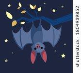 bat. cute bat flying on a... | Shutterstock .eps vector #1804939852