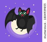 bat. flying bat halloween... | Shutterstock .eps vector #1804939855