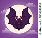 bat. flying bat halloween... | Shutterstock .eps vector #1804939888