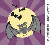 bat. flying bat halloween... | Shutterstock .eps vector #1804939945