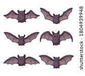 bat. flying bat animated kit....   Shutterstock .eps vector #1804939948