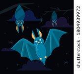 bat. flying bat halloween... | Shutterstock .eps vector #1804939972