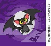 bat. flying bat halloween...   Shutterstock .eps vector #1804939978