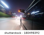 car on the road with motion... | Shutterstock . vector #180498392