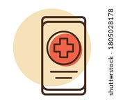 smartphone with medical cross...