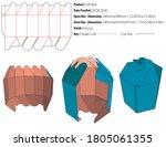 gift box packaging design... | Shutterstock .eps vector #1805061355